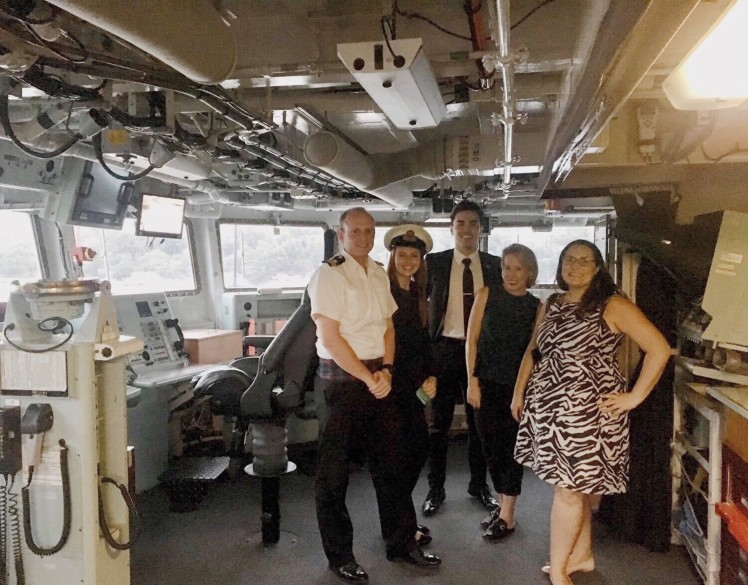 UK Department for International Trade on the Bridge of HMS Sutherland
